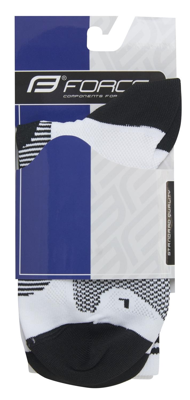 ponožky F LONG, bílo-černé L-XL/42-47