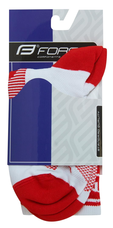 ponožky F LONG, bílo-červené S-M/36-41