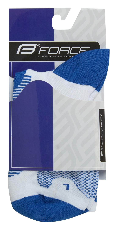 ponožky F LONG, bílo-modré L-XL/42-47