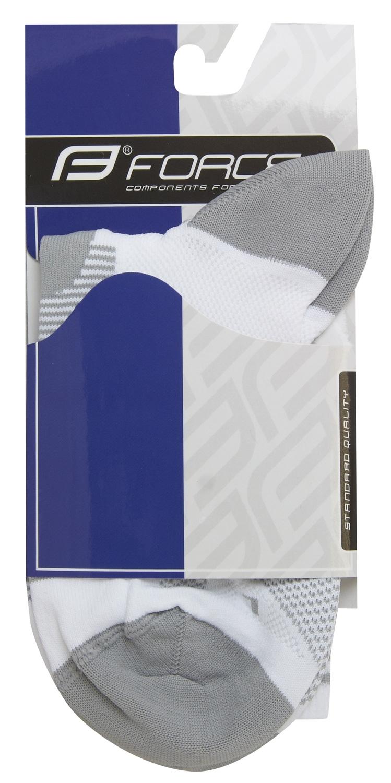 ponožky F LONG, bílo-šedé S-M/36-41