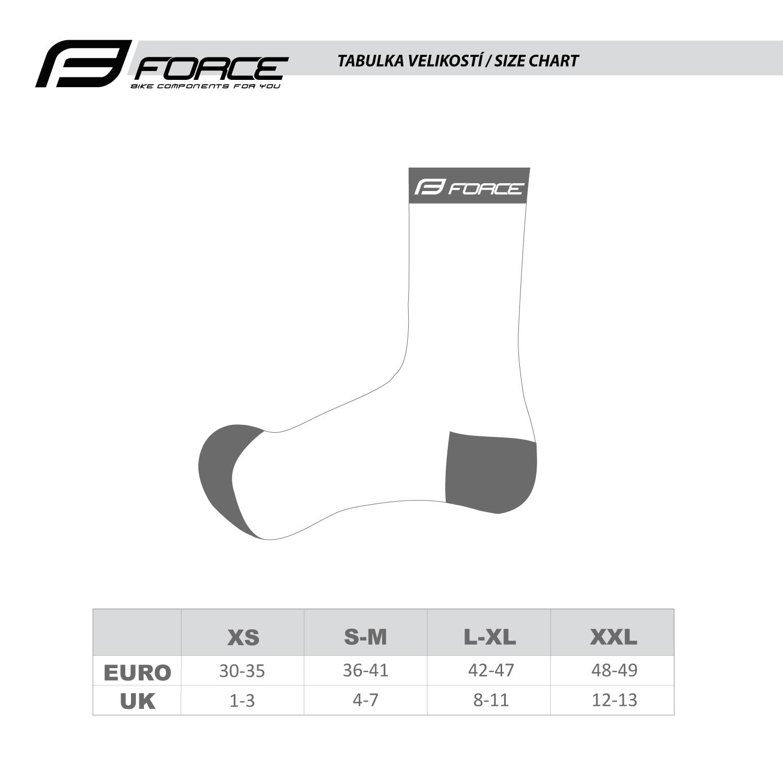 ponožky F LONG, bílo-šedé XS/30-35