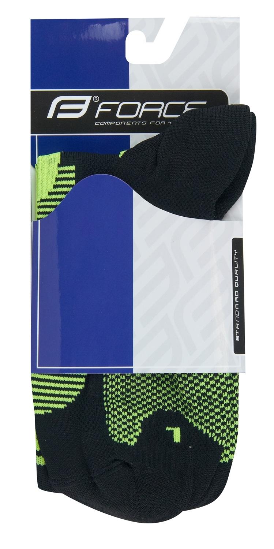 ponožky F LONG, černo-fluo S-M/36-41