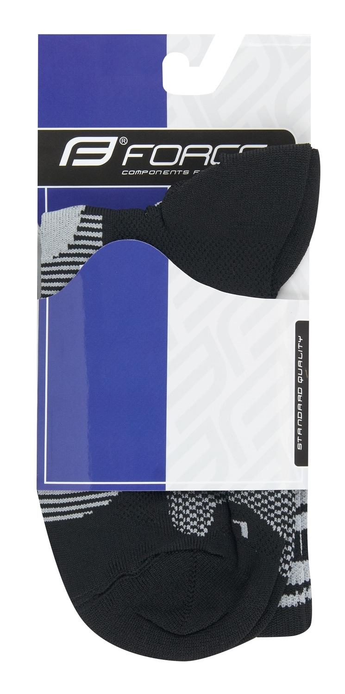 ponožky F LONG, černo-šedé L-XL/42-47