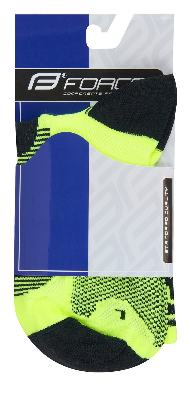 ponožky F LONG, fluo-černé L-XL/42-47