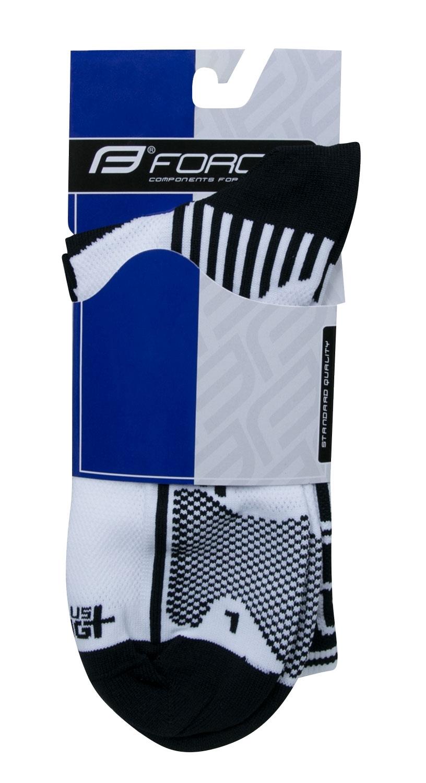 ponožky F LONG PLUS, bílo-černé XXL/48-49