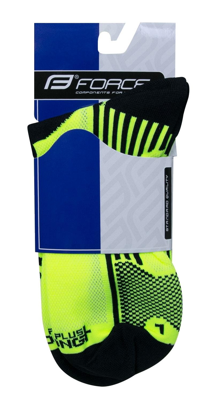 ponožky F LONG PLUS, fluo-černé XS/30-35