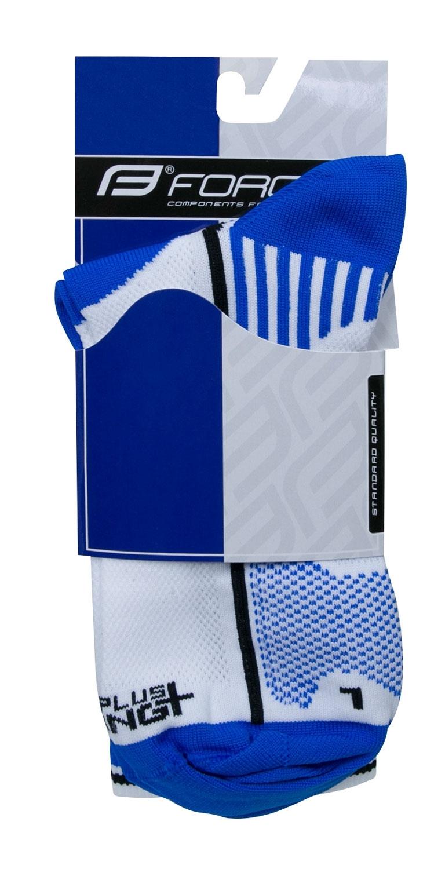 ponožky F LONG PLUS, modro-černo-bílé S-M/36-41
