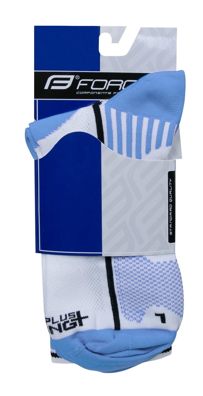 ponožky F LONG PLUS, světlemodro-bílé S-M/36-41