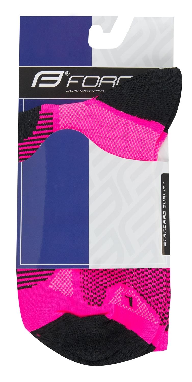ponožky F LONG, růžovo-černé XS/30-35