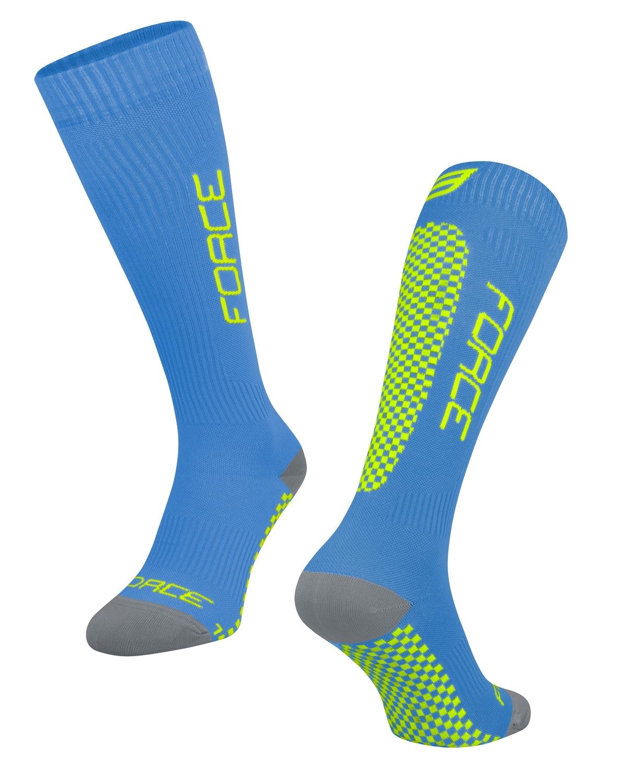 ponožky FORCE TESSERA KOMPRESNÍ, modrá S-M/36-41