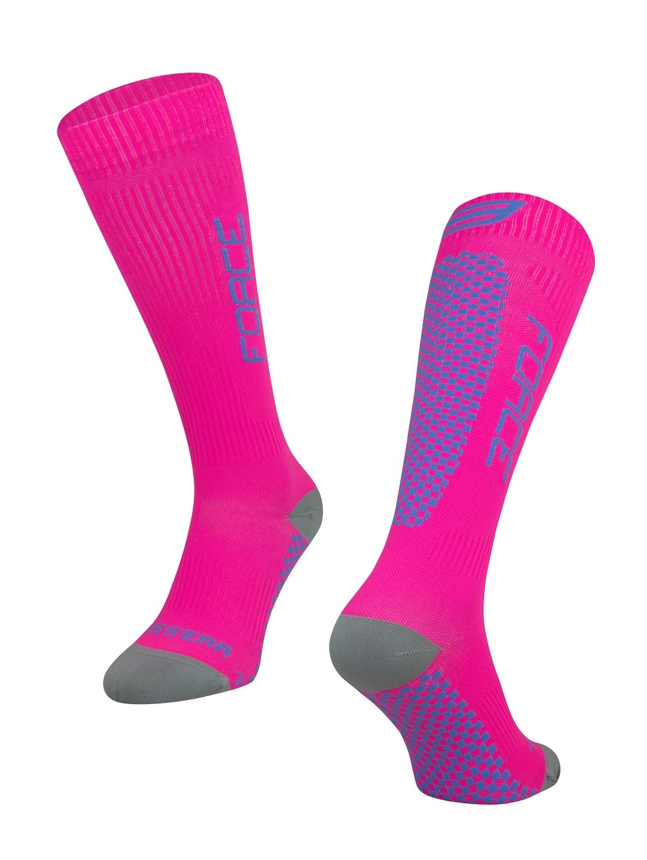 ponožky F TESSERA KOMPRESNÍ, růžové L-XL/42-47