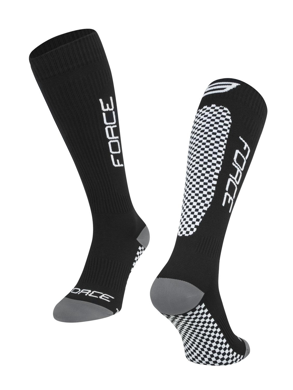 ponožky FORCE TESSERA KOMPRESNÍ širší W,černé L-XL