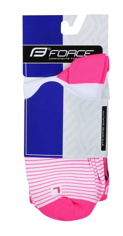 ponožky F TRIANGLE, bílo-růžové L-XL/42-47