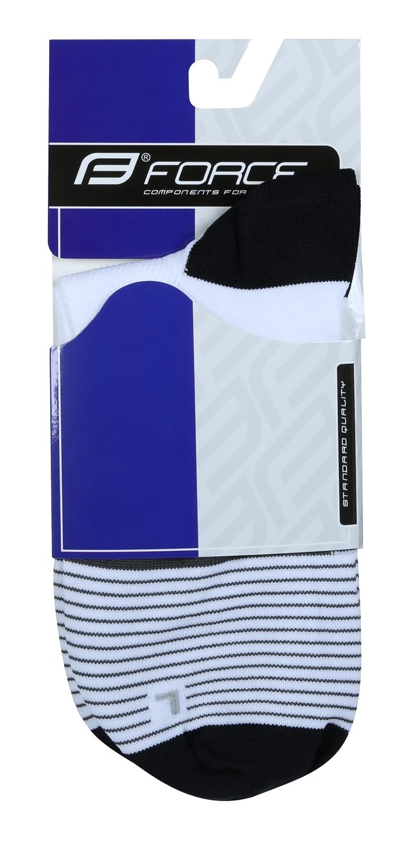 ponožky F TRIANGLE,bílo-šedo-černé L-XL/42-47