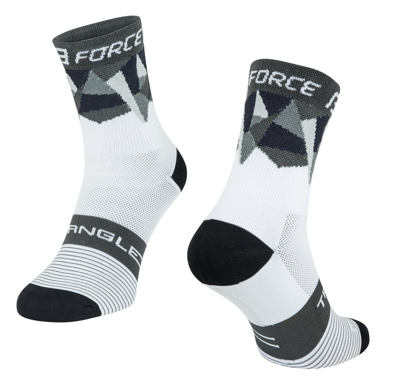 ponožky F TRIANGLE, bílo-šedo-černé S-M/36-41