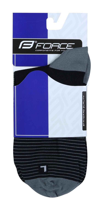 ponožky F TRIANGLE, černo-šedé L-XL/42-47