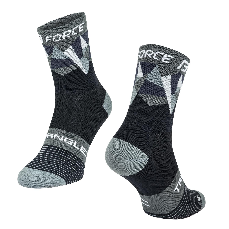ponožky FORCE TRIANGLE, černo-šedé S-M/36-41