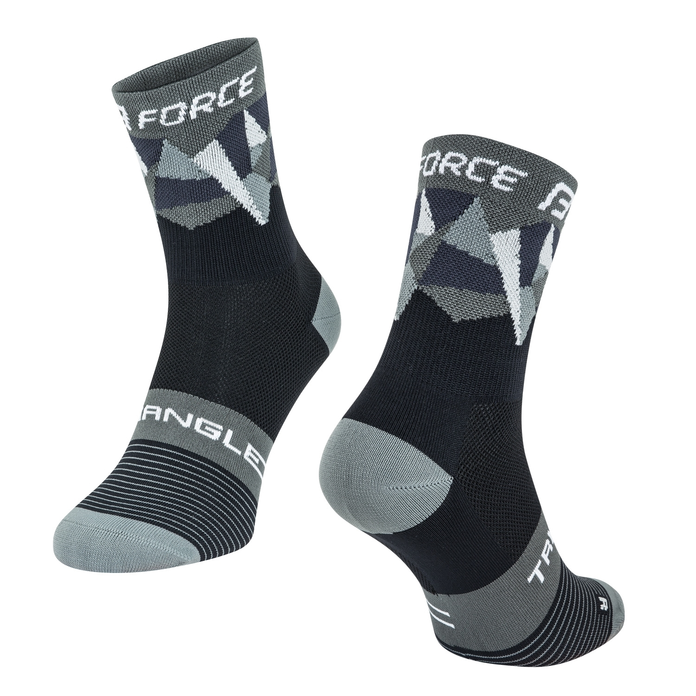 ponožky F TRIANGLE, černo-šedé XS/30-35