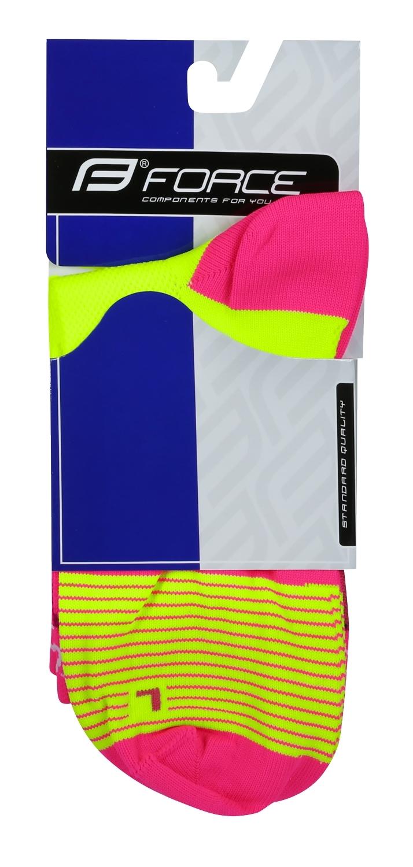 ponožky F TRIANGLE, fluo-růžové L-XL/42-47
