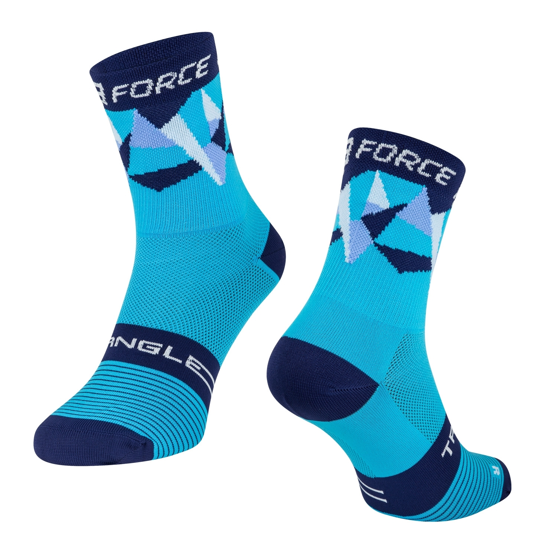 ponožky FORCE TRIANGLE, modré S-M/36-41