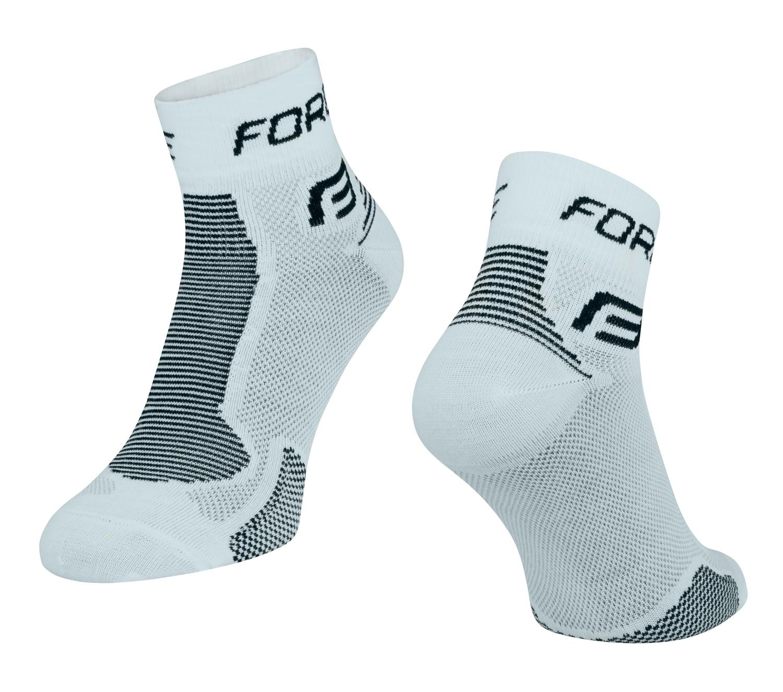ponožky FORCE 1, bílo-černé L-XL/42-47