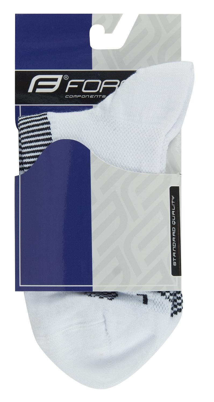 ponožky FORCE 1, bílo-černé S-M/36-41