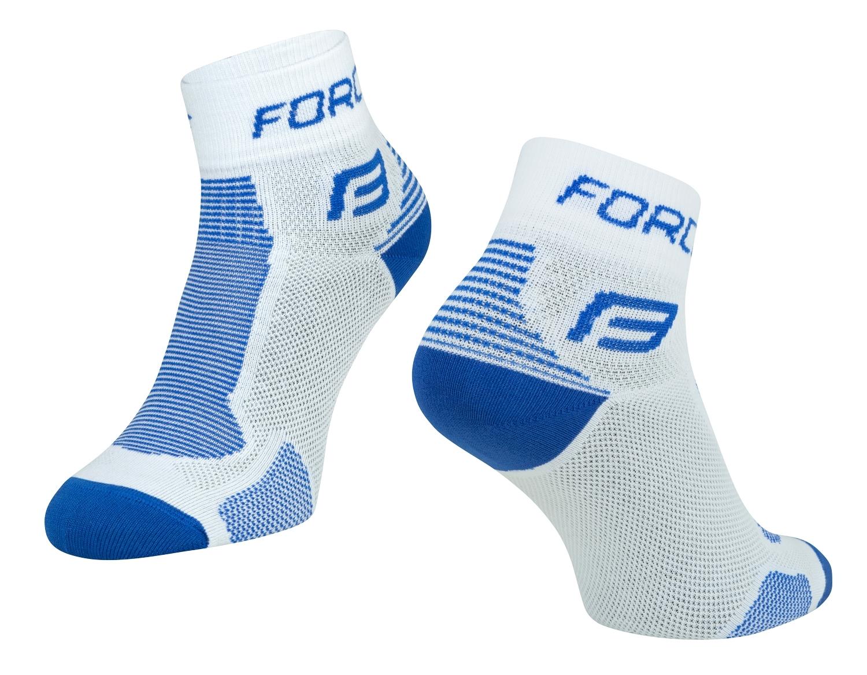 ponožky FORCE 1, bílo-modré L - XL
