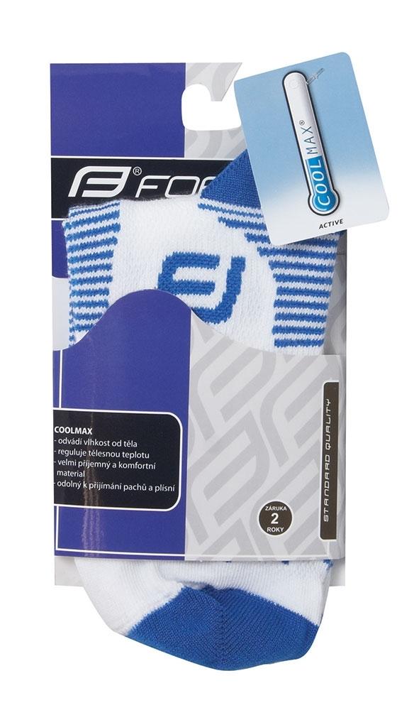 ponožky FORCE 1, bílo-modré S-M/36-41
