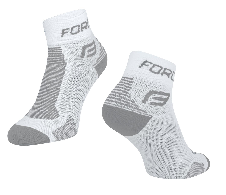 ponožky FORCE 1, bílo-šedé L-XL/42-47
