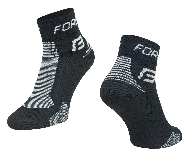 ponožky FORCE 1, černo-šedé L-XL/42-47