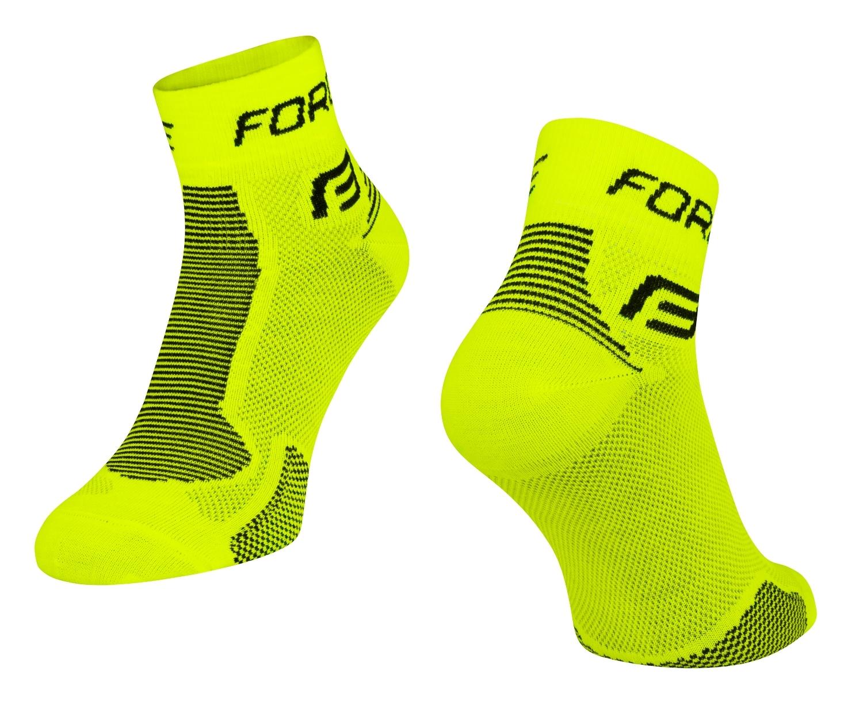 ponožky FORCE 1, fluo-černé S-M/36-41