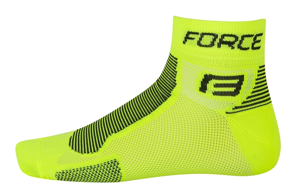 ponožky FORCE 1, fluo-černé, L až XL