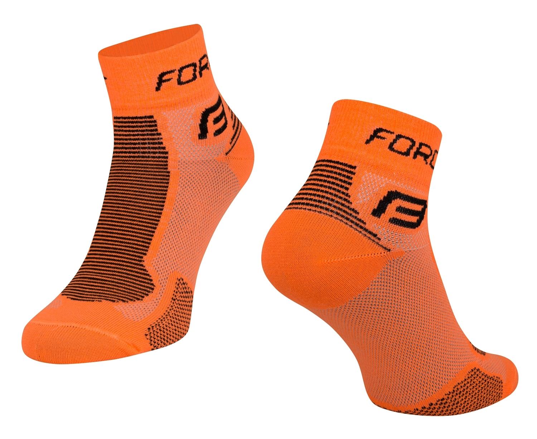 ponožky FORCE 1, oranžovo-černé S-M/36-41