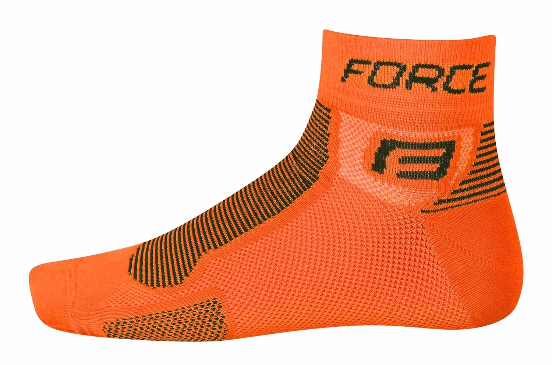 ponožky FORCE 1, oranžovo-černé S - M