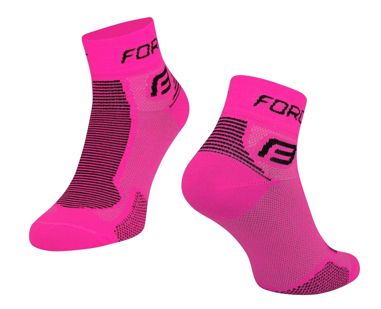 ponožky FORCE 1, růžovo-černé L - XL