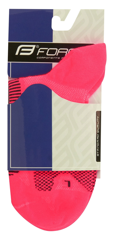 ponožky FORCE 1, růžovo-černé XS/30-35