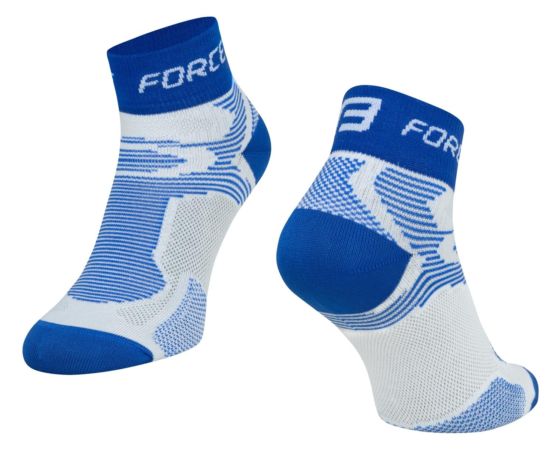 ponožky FORCE 2, bílo-modré S - M