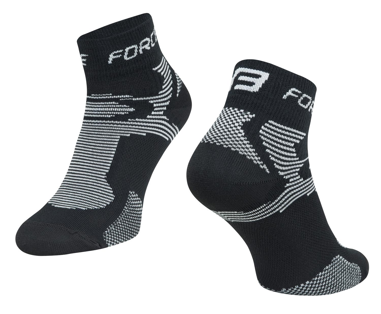 ponožky FORCE 2, černo-šedé S - M