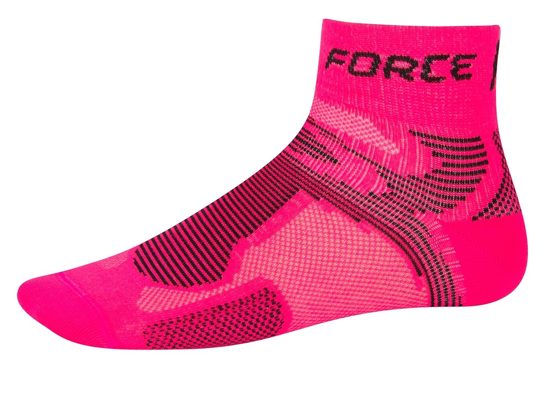 ponožky FORCE 2, růžovo-černé S-M