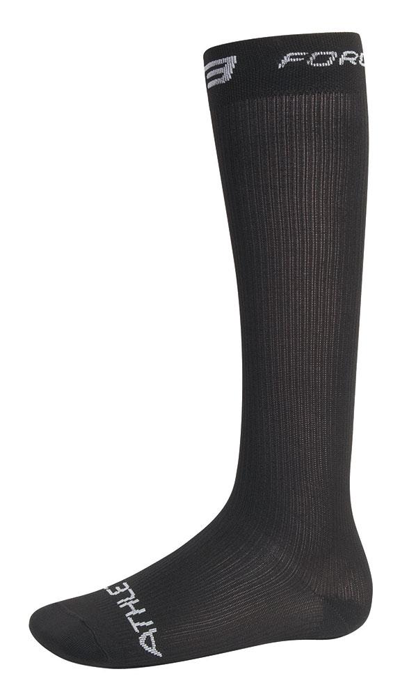 ponožky FORCE ATHLETIC KOMPRESNÍ, černé L - XL