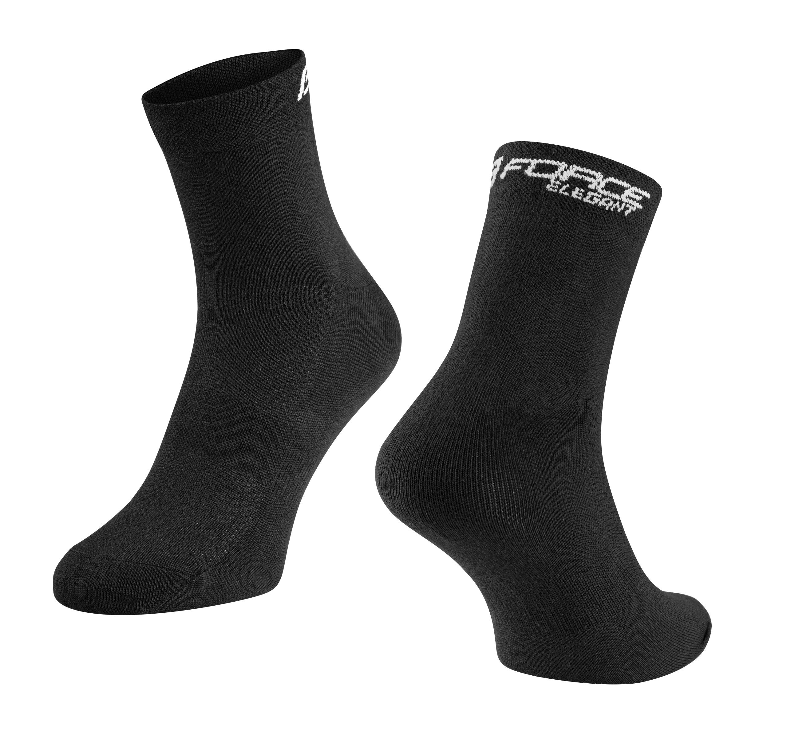 ponožky FORCE ELEGANT nízké, černé L-XL/42-46