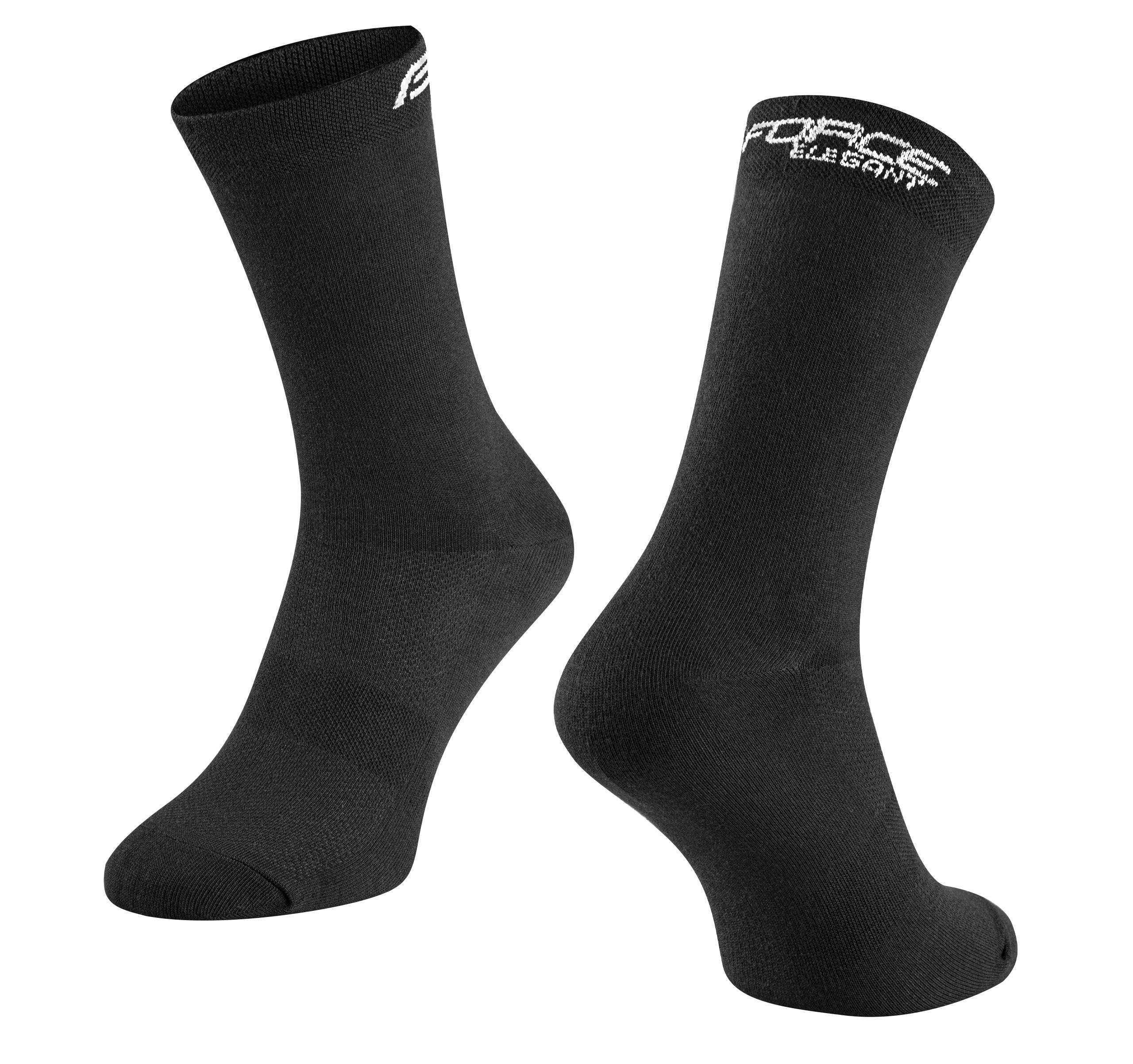 ponožky FORCE ELEGANT vysoké, černé L-XL/42-46
