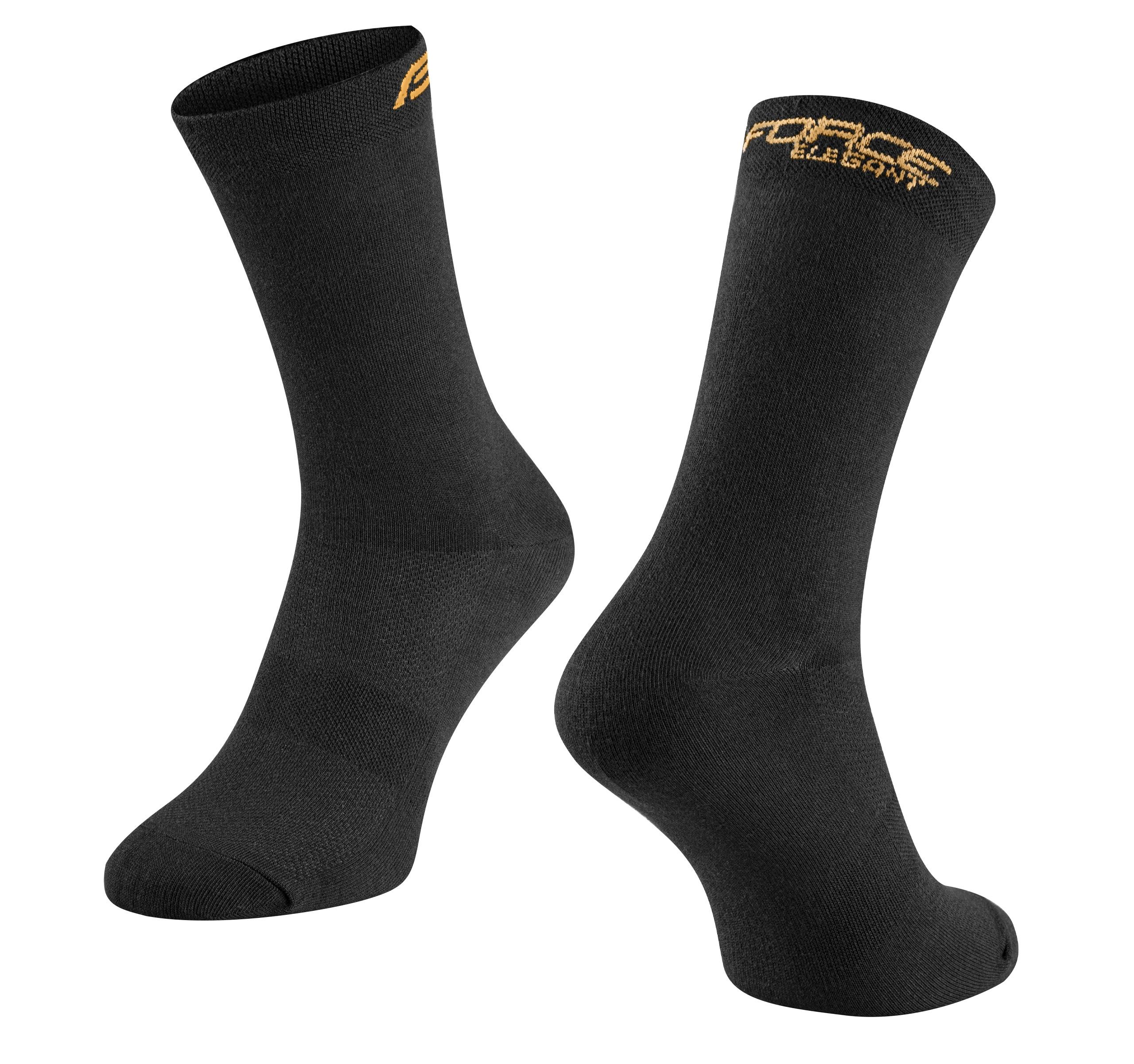 ponožky FORCE ELEGANT vysoké,černo-zlaté S-M/36-41