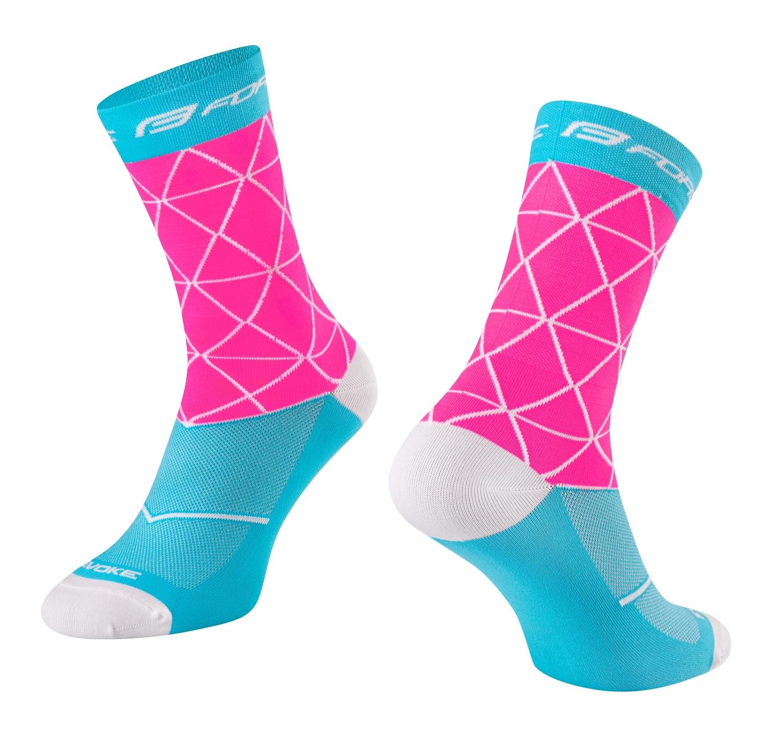 ponožky FORCE EVOKE, růžovo-modré S-M/36-41