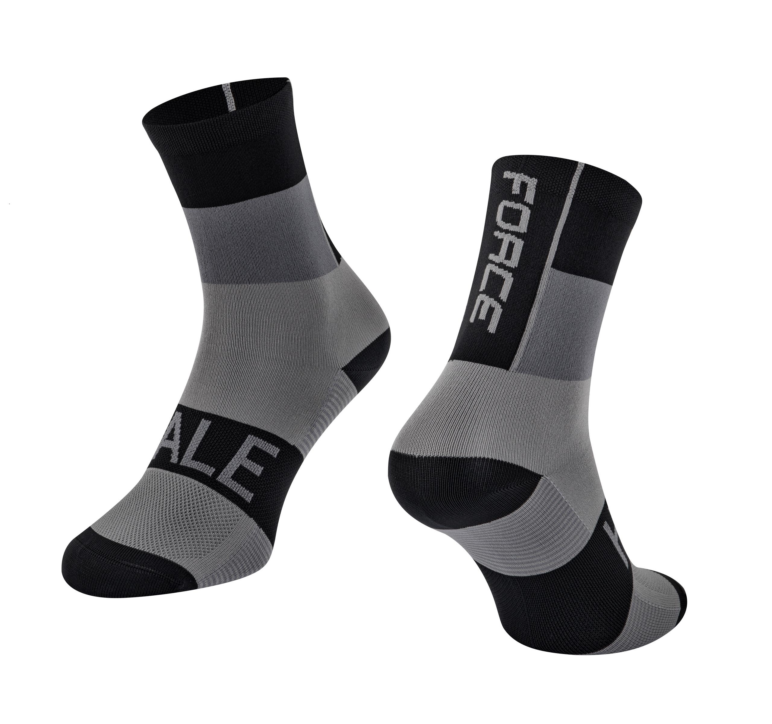 ponožky FORCE HALE, černo-šedé S-M/36-41