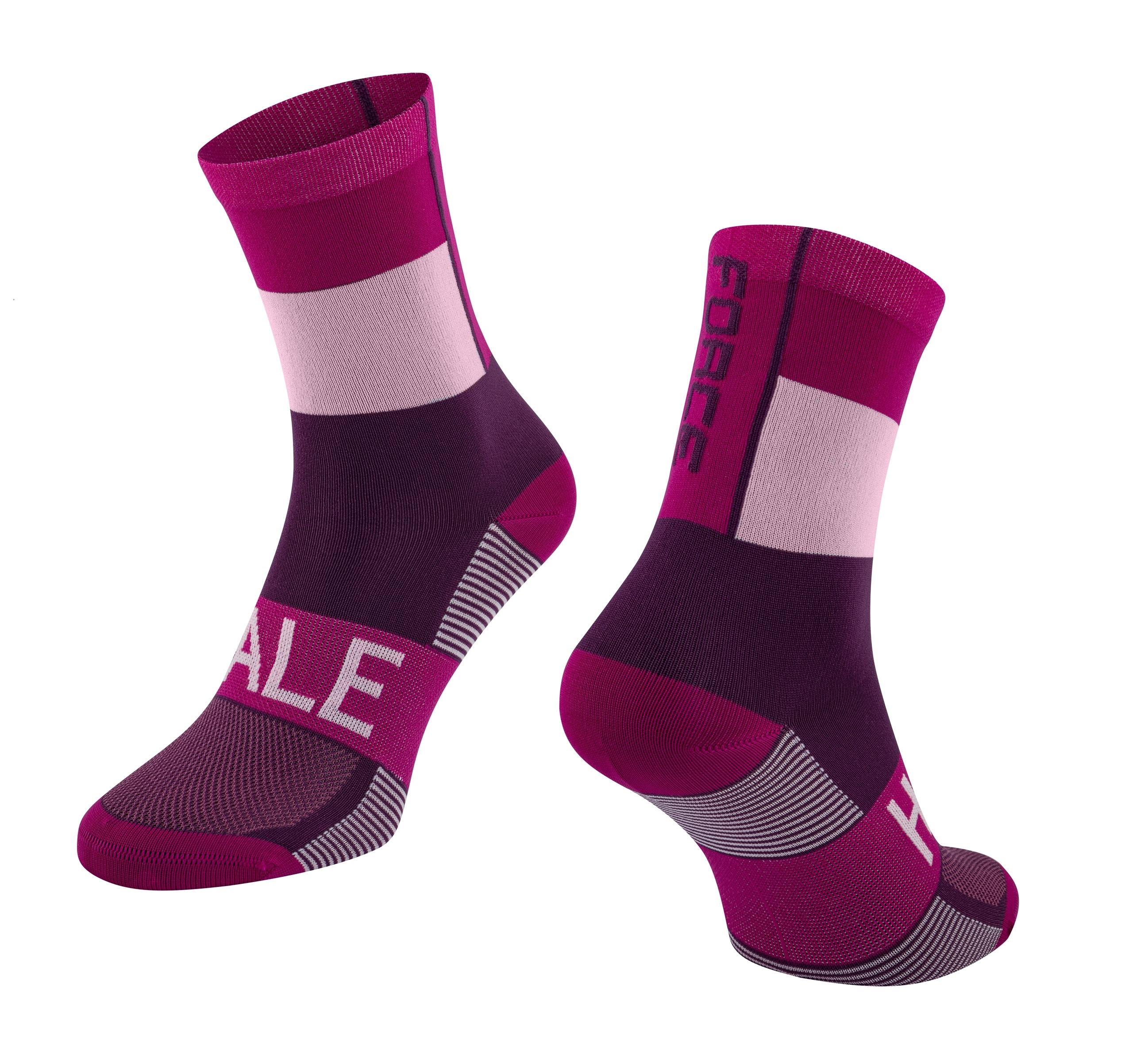 ponožky FORCE HALE, fialové S-M/36-41