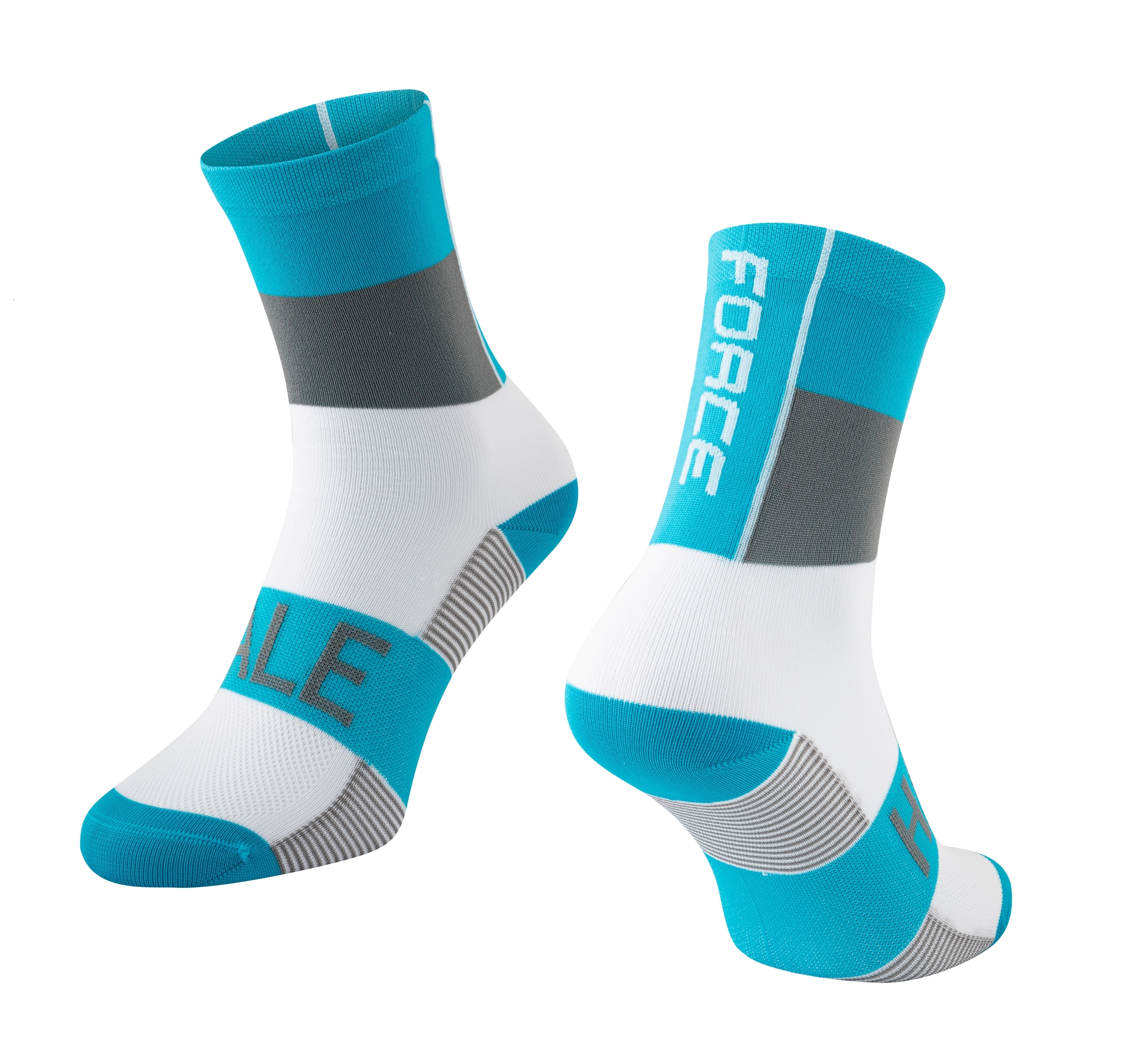 ponožky FORCE HALE, modro-šedo-bílé S-M/36-41