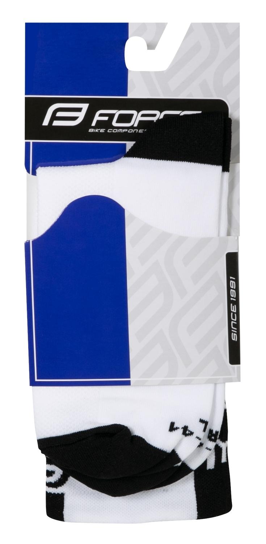 ponožky FORCE LONG PRO, bílo-černé S-M/36-41