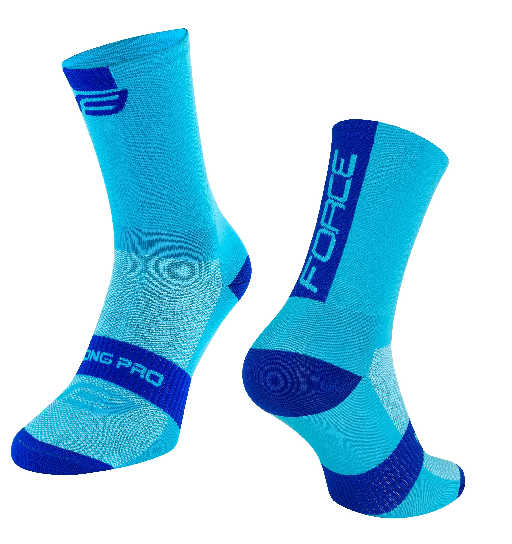 ponožky FORCE LONG PRO, modré L-XL/42-46