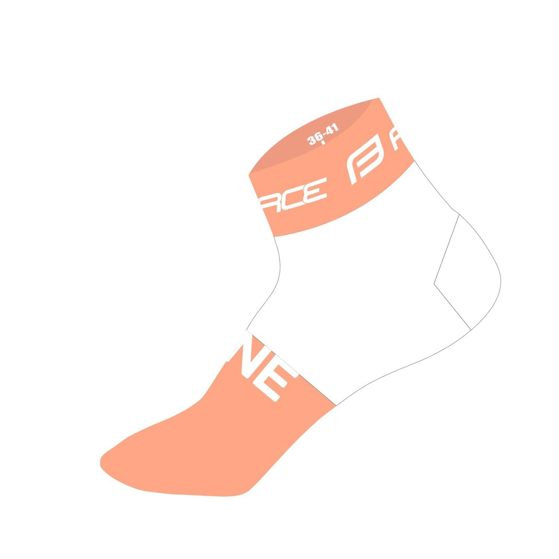 ponožky FORCE ONE, oranžovo-bílé L-XL/42-47